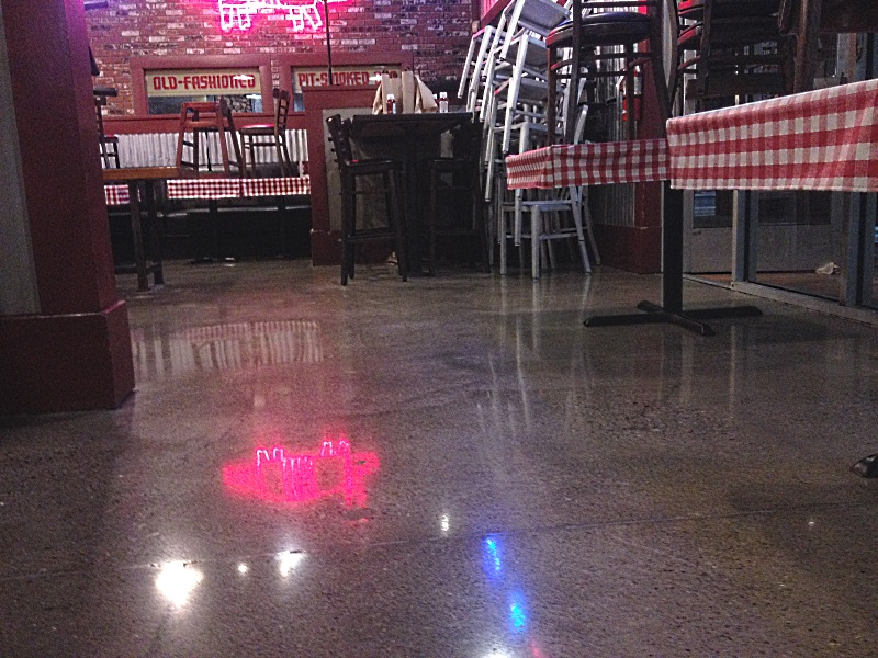 Restaurant polished concrete