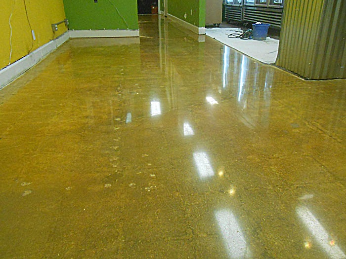 Stained and polished concrete floors Redwood City