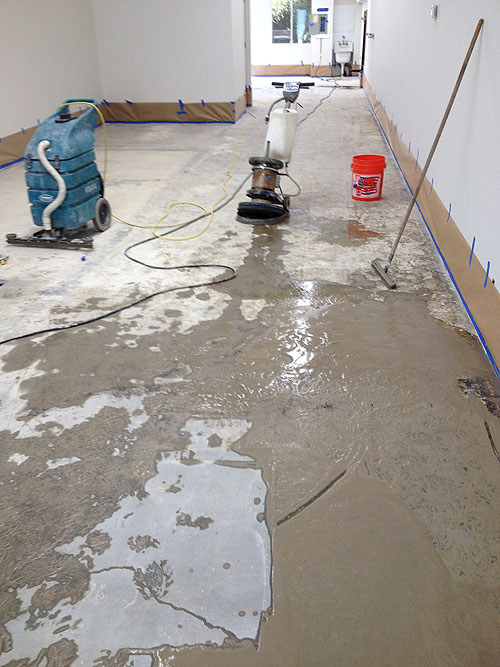 Palo Alto concrete Polishing before
