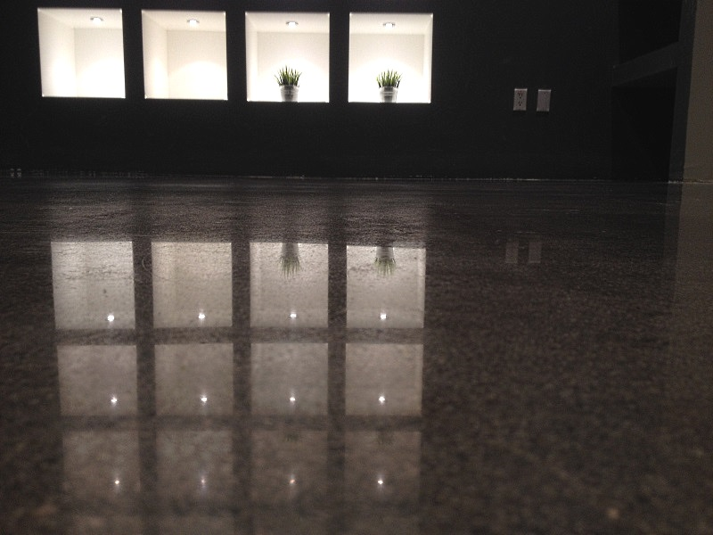 Palo Alto polished concrete floors